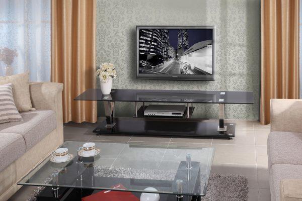 מזנון מודרני מעוצב זכוכית שחורה דגם Mara