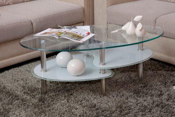 Стеклянный журнальный столик модель 801