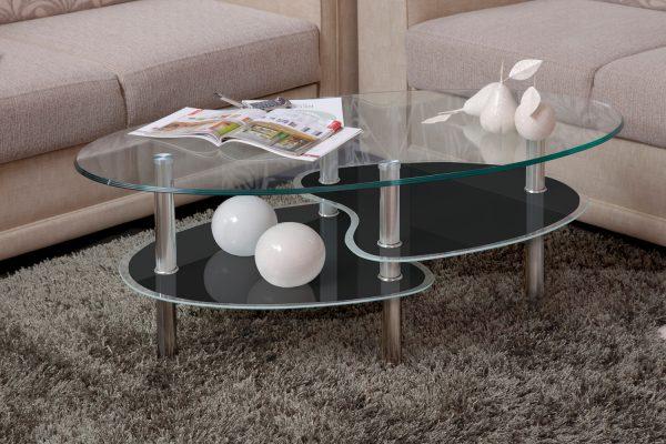 Кофейный столик из стекла модель 801-черный