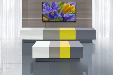 מזנון מודרני לסלון צבעוני דגם 2106