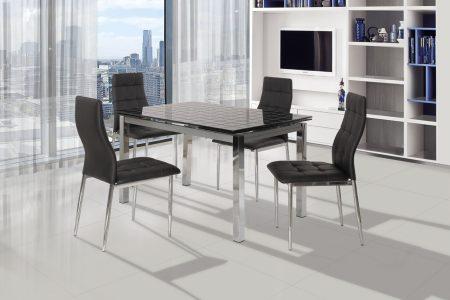 שולחן אוכל זכוכית דגם 179-BLACK