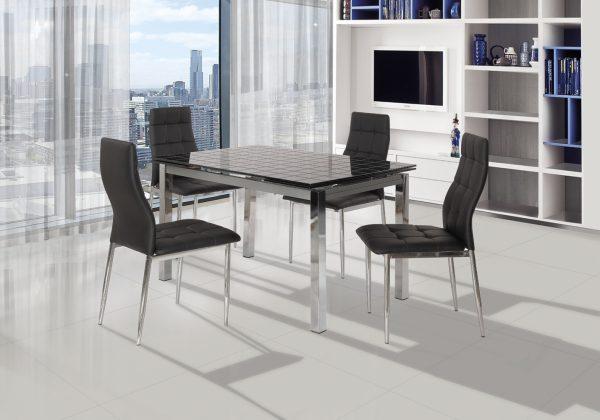 Обеденный раскладной стол 179-BLACK