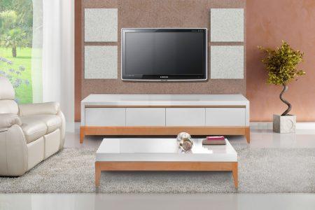 שידת טלוויזיה+שולחן סלון תואם דגם RUNDO