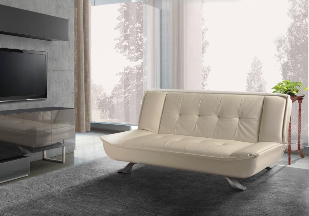 Кожаный раскладной диван модель СОФИЯ