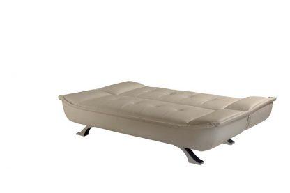 ספה דמוי עור נפתחת למיטה דגם SOFIA-CREAM