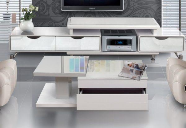 שולחן סלון דגם 1025 לבן