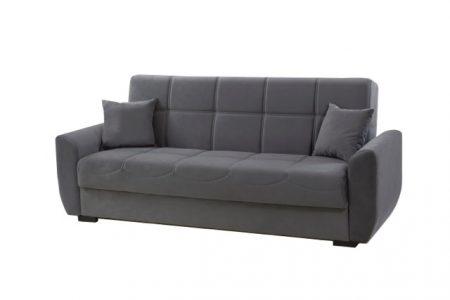 ספה נפתחת למיטה עם ארגז מצעים דגם Mona-Gray