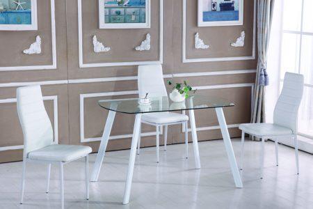 Кухонный стеклянный стол модель 13
