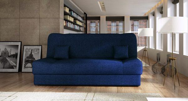 ספה נפתחת למיטה עם ארגז מצעים דגם Jess-Blue