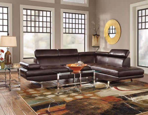 Кожаный угловой диван модель Марк