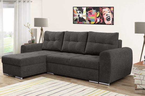ספה פינתית נפתחת למיטה זוגית בגודל 144*200 דגם Roman