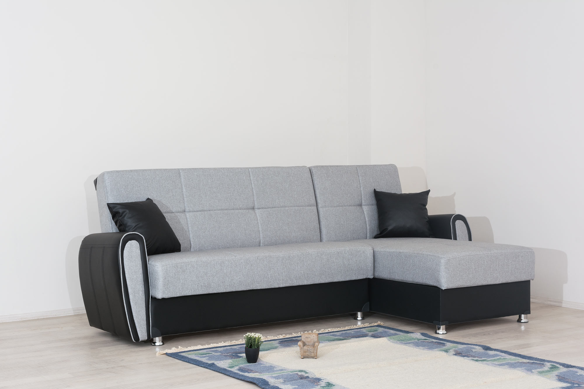 Угловой диван с 2 ящиками для белья модель Зила