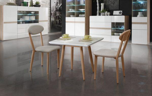 Квадратный кофейный стол модель MARISA с двумя стульями