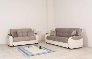 מערכת ישיבה 3+2 נפתחות למיטות דגם LEON