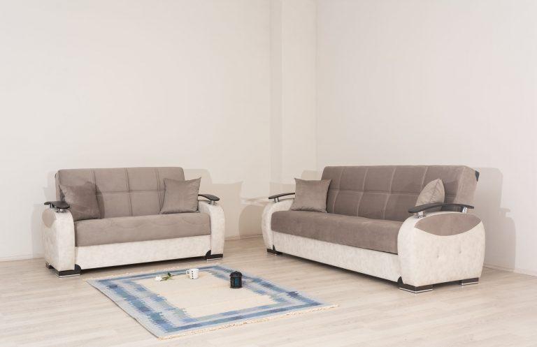 מערכת ישיבה מעוצבת 3+2 נפתחות למיטות דגם LEON
