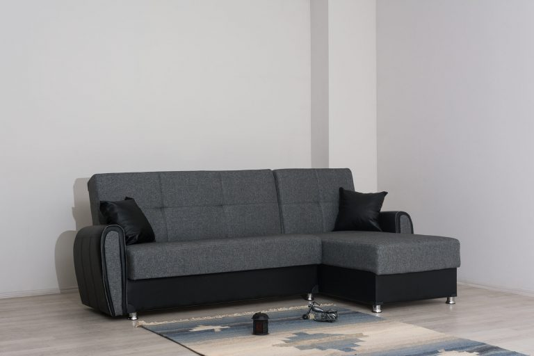 Раскладной угловой диван с 2 ящиками для белья модель Зила