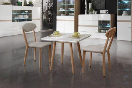 פינת קפה מעוצב זכוכית כולל 2 כסאות דגם MARISA