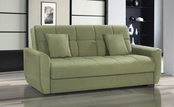 Раскладной диван-кровать с ящиком для белья модель MONA