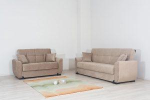 מערכת ישיבה מעוצבת 3+2 דגם BONI עם ארגזי מצעים