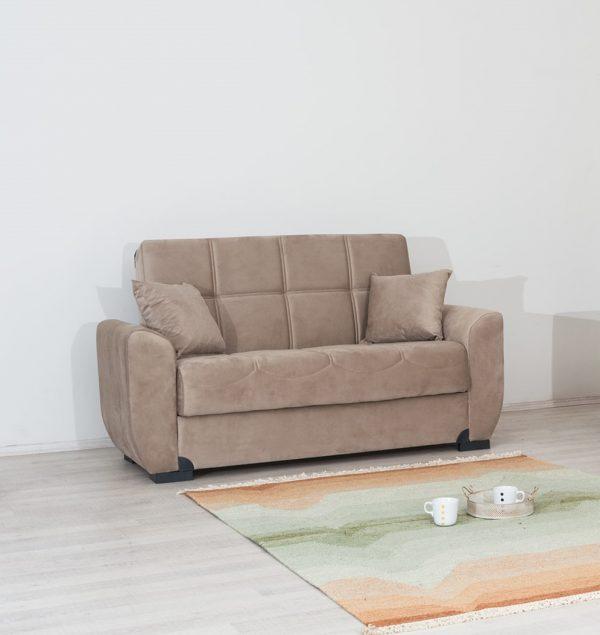 ספה דו-מושבית מעוצבת עם ארגז מצעים דגם LILY