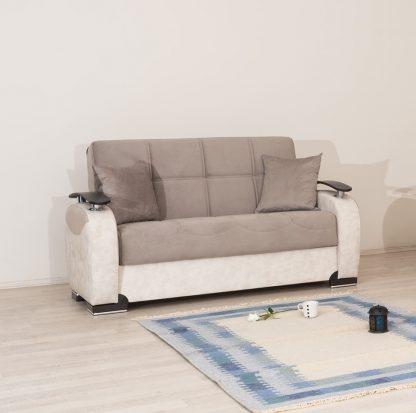 ספה דו-מושבית מעוצבת דגם LULU עם ארגז מצעים