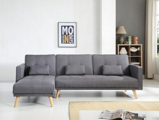 Угловой раскладной диван модель MARIA-GRAY