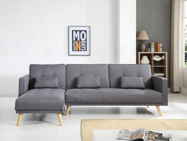 Угловой диван с большим спальным местом модель МАРИЯ