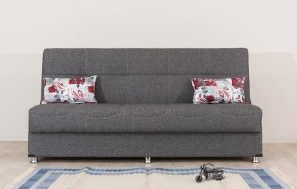 ספה נפתחת למיטה בד אפור כהה דגם Tomer