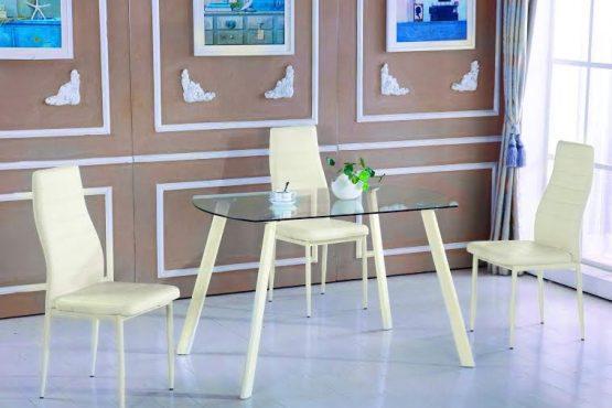 שולחן מטבח קטן זכוכית דגם 13