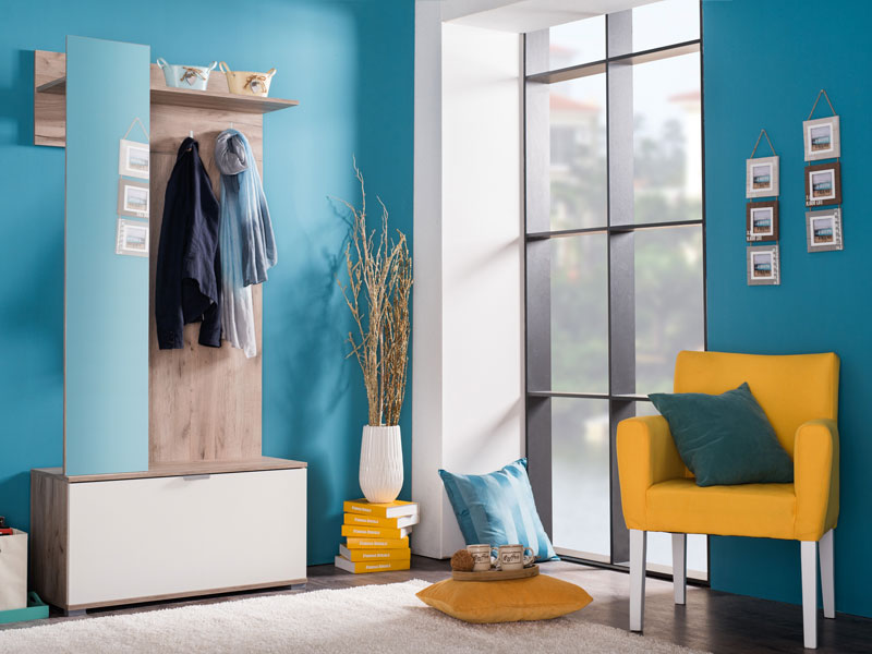 ארון כניסה LIKO כולל מראה, מתקן תליה ואחסון לנעליים