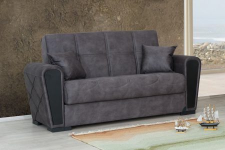 ספה דו-מושבית מעוצבת עם ארגז מצעים דגם MARA-2