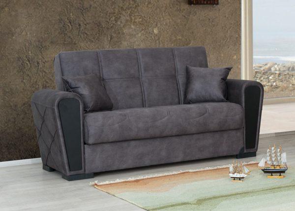 ספה דו-מושבית מעוצבת עם ארגז מצעים דגם MIKI