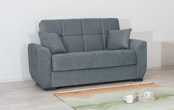 ספה דו-מושבית מעוצבת עם ארגז מצעים דגם MIMI