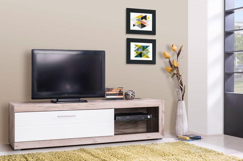 Тумба под телевизор модель REMO с ящиками для хранения
