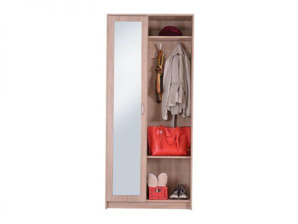 Шкаф для прихожей с большим зеркалом модель WANDA