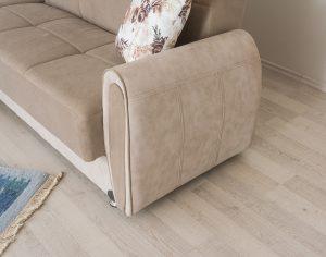מערכת ישיבה פינתית דגם ZILA-בז' נפתחת למיטה