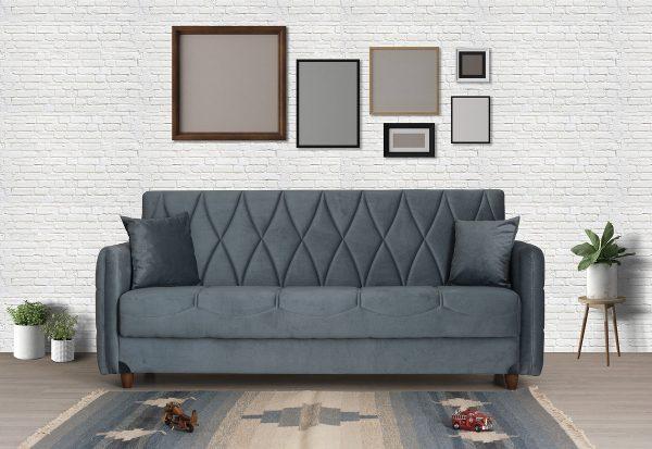 ספה נפתחת DAFNA מעוצבת בד אפור