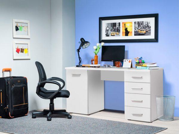 Компьютерный стол модель LIDA белого цвета