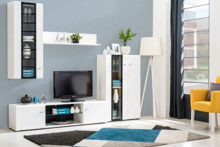 מזנון לסלון דגם ROMA יוקרתי צבע לבן