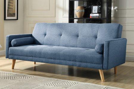 ספה תלת מושבית נפתחת NIKA-BLUE