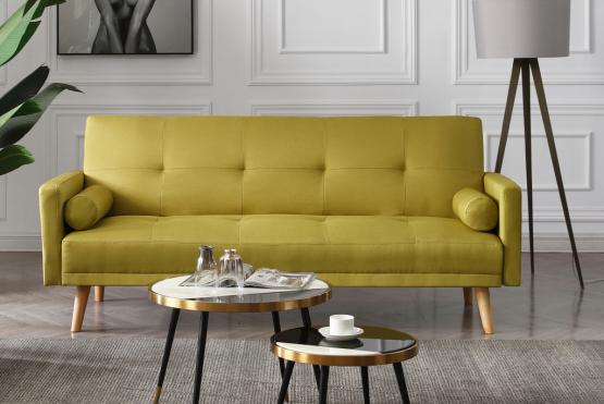 Удобный диван в ретро стиле модель NIKA-GREEN