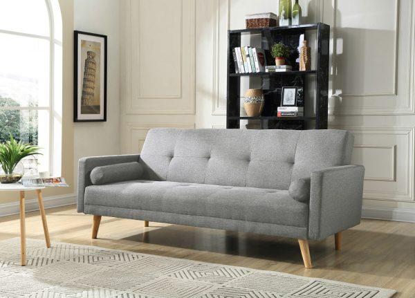 Стильный диван кровать модель НИКА-серый