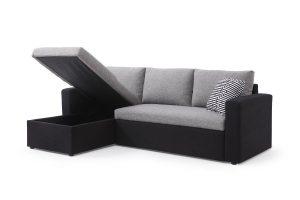 מערכת ישיבה מעוצבת דגם LETTY-BLACK נפתחת למיטה זוגית