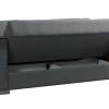 ספה 3 מושבים MATRIX נפתחת למיטה מעוצבת בד אפור