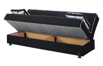 ספה נפתחת למיטה וחצי דגם PEZZA מעוצבת בד שחור