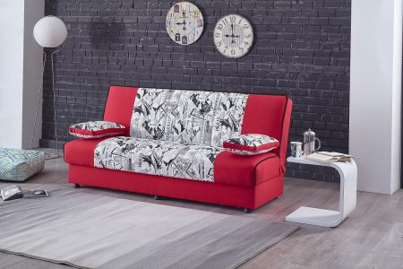 ספה מעוצבת נפתחת למיטה וחצי נוחה דגם RED CITY