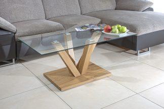 שולחן סלון מעוצב זכוכית דגם 734