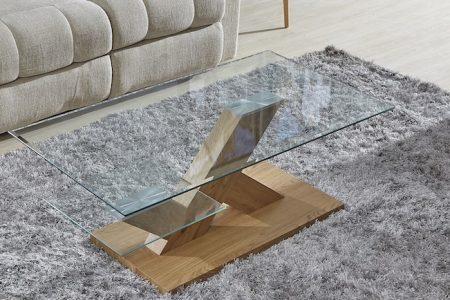 שולחן סלון מעוצב זכוכית דגם 741