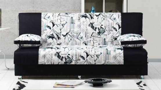 Трехместный стильный диван-кровать модель BLACK CITY