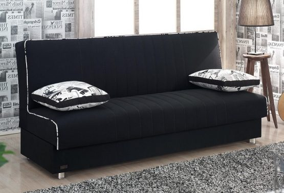 ספה נפתחת למיטה דגם TAMAR בד שחור